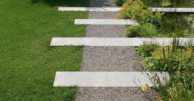 Schröer Garten- und Landschaftsbau Gartenideen Wegeeinfassung aus Stahl