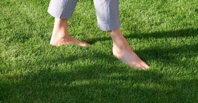 Vertrauen: Füße im Rasen